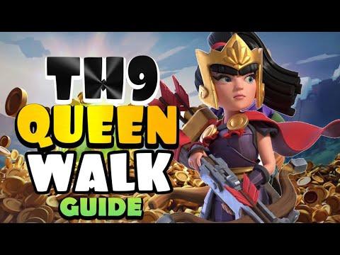 ONE THING ALL PLAYERS MUST LEARN – TH9 QUEEN WALK / QUEEN CHARGE – Best TH9 Attack Strategies in CoC by Clash with Eric – OneHive