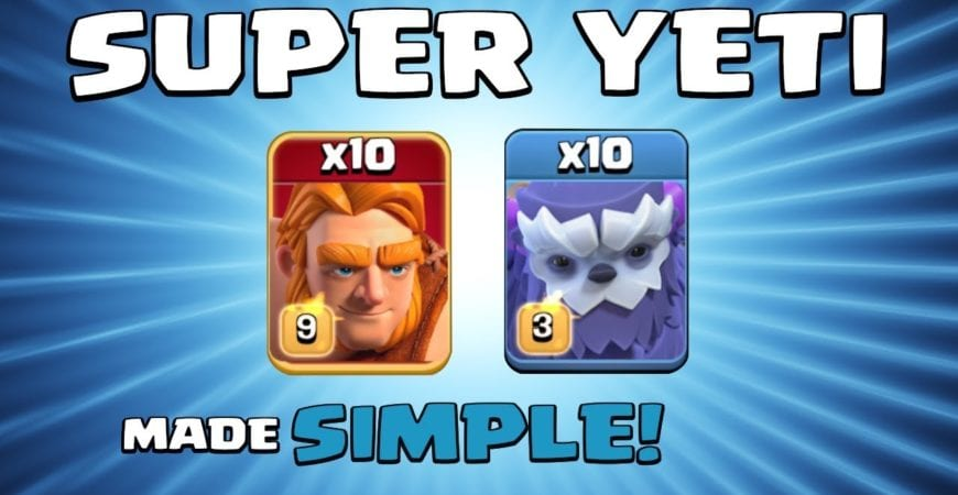 10 x SUPER GIANTS + 10 x YETIS = OUCH!!! SUPER TROOPS NEW TH13 Attack Strategy – Clash of Clans by Sir Moose Gaming
