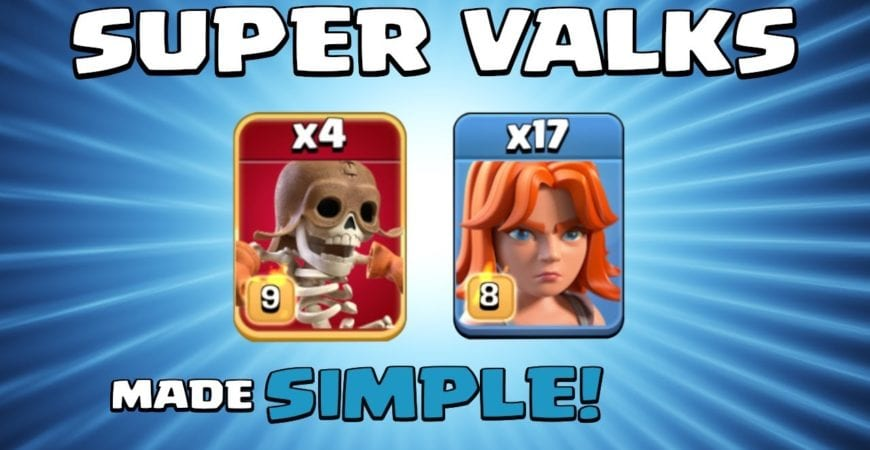 SUPER WALL BREAKERS + MASS VALKS = GAME OVER!!! SUPER TROOPS TH13 Attack Strategy – Clash of Clans by Sir Moose Gaming