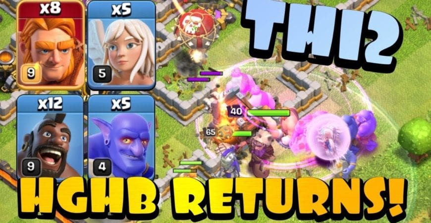 RETURN OF A CLASSIC! TH12 HGHB with SUPER GIANTS! Best TH12 Attack Strategies in Clans of Clans by Clash with Eric – OneHive