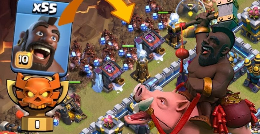 55 HOG RIDERS in CHAMPION 1 DURING CLAN WAR LEAGUE! Best TH13 Attack Strategies in Clash of Clans by Clash with Eric – OneHive