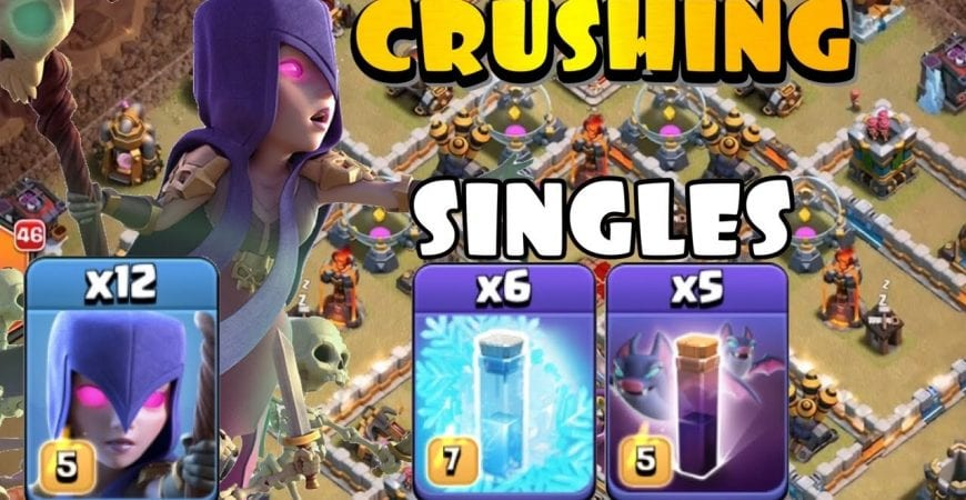 SINGLE INFERNOS CAN'T STOP WITCHES! TH12 Bat Slap Attack Strategy | Best TH12 Attack Strategies CoC by Clash with Eric – OneHive
