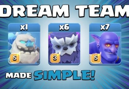 DREAM TEAM = EASY 3 STAR ATTACK!!! BEST TH13 Attack Strategies – Clash of Clans by Sir Moose Gaming