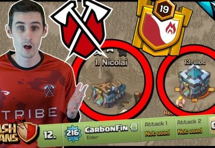 Going for the 6-Pack with Tribe Gaming! Back in War with Tribe | Clash of Clans by CarbonFin Gaming