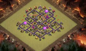Best Th 8 War/Trophy Pushing Base Anti 2 Star  With Clan Castle In Middle.