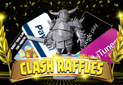 Clash Raffles is Live – Amazing Prizes Up for Grabs!