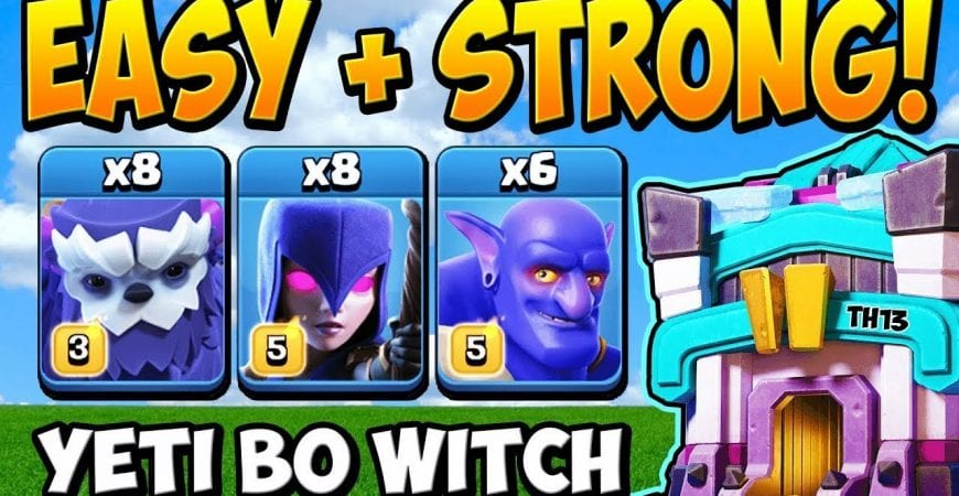 *NEW* Yeti Bowler Witch Attack is STRONG at TH13! Town Hall 13 Attack Strategy 2020 by Clash With Cory