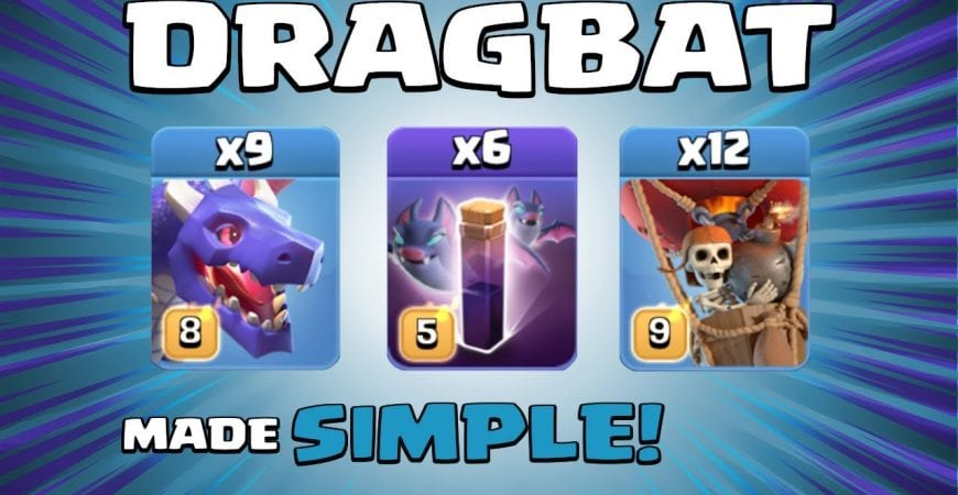 DRAGBAT = NICE & EASY AIR ATTACK! Town Hall 13 (TH13) Attack Strategy – Clash of Clans by Sir Moose Gaming