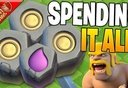 SPENDING OVER 50 MILLION GOLD & PRACTICING HYBRID! by Clash Bashing!!