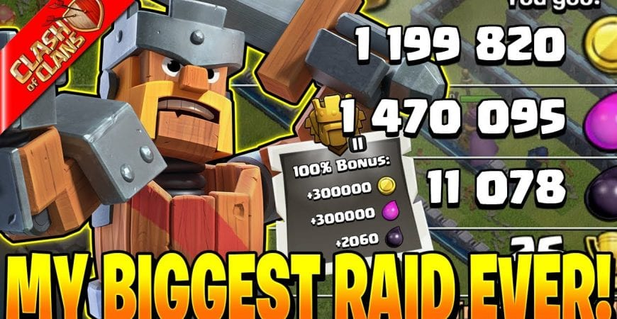 MAXING MY KING WITH MY BIGGEST RAID EVER! by Clash Bashing!!