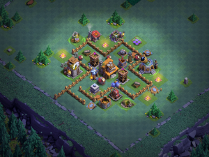 Builder Hall 4 Trophy Base
