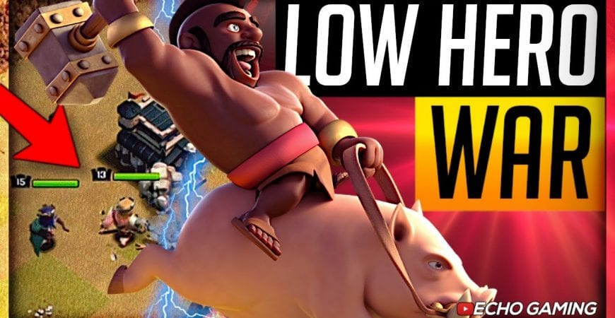 Will Hogs help my Low Heroes grab 3 stars in this war? by ECHO Gaming