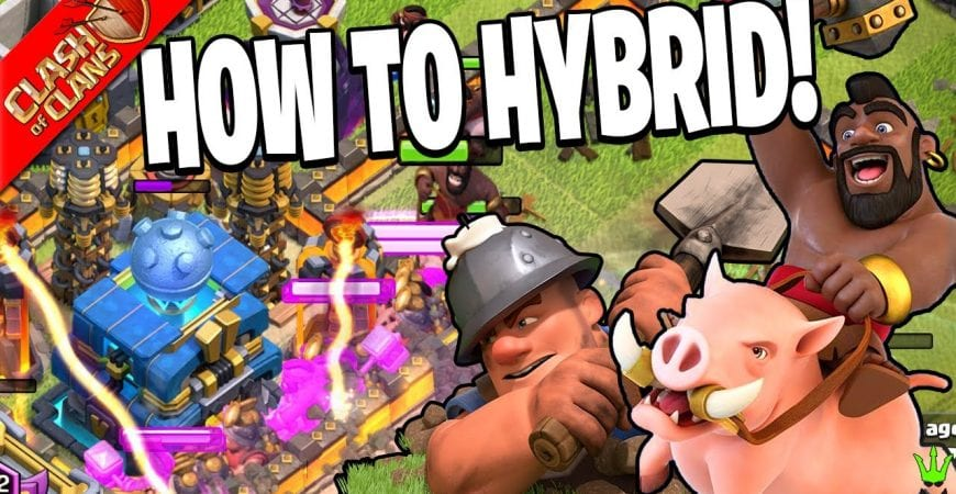 HOW TO USE THE HYBRID ATTACK! by Clash Bashing!!