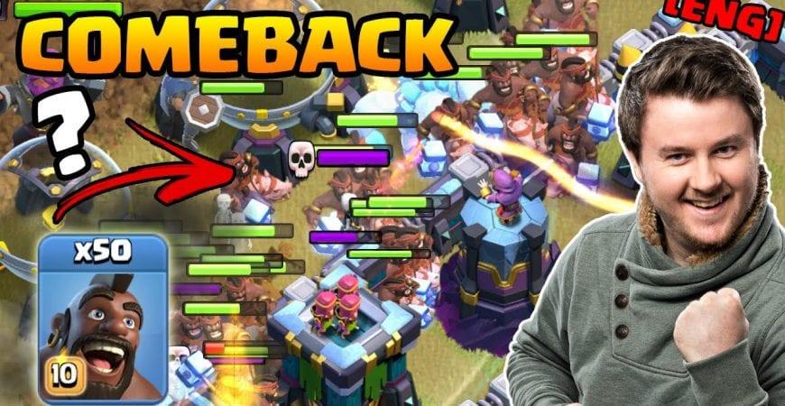 50 Hog Rider vs 1 Base | Mass Hog Rider are BACK | ESLM Match Tribe vs eVe | #clashofclans by iTzu [ENG] – Clash of Clans
