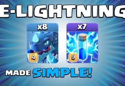 8 x ELECTRO DRAGONS + 7 x LIGHTNING SPELLS = UNBELIEVABLE! New TH13 Attack Strategy – Clash of Clans by Sir Moose Gaming