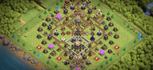 Trophy base, made for an anti queen walk, wars also, base works for most needs