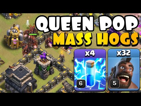 NEW STRATEGY TH9 Queen Pop MASS HOGS! TH9 Golden Cup Tournament | Best TH9 Attack Strategies in CoC by Clash with Eric – OneHive