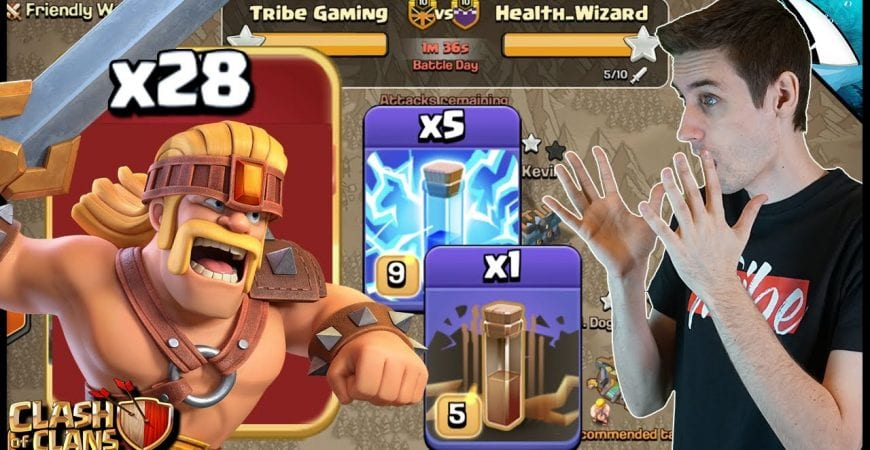 Zap Super Barb Attack! Does it Work?!? | Clash of Clans by CarbonFin Gaming
