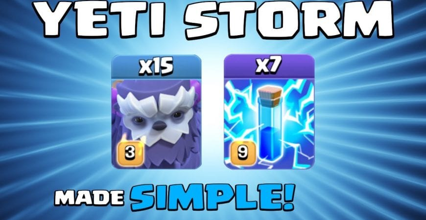 15 x YETIS + 7 x LIGHTNING SPELLS = 3 STAR SPAM! EASY TH13 Attack Strategy   Clash of Clans by Sir Moose Gaming
