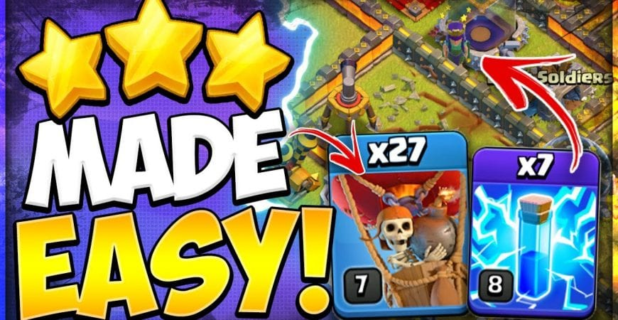 Lightning Spells Made LavaLoon Easy! How to 3 Star TH 11 with ZapQuake LaLo in Clash of Clans by Kenny Jo