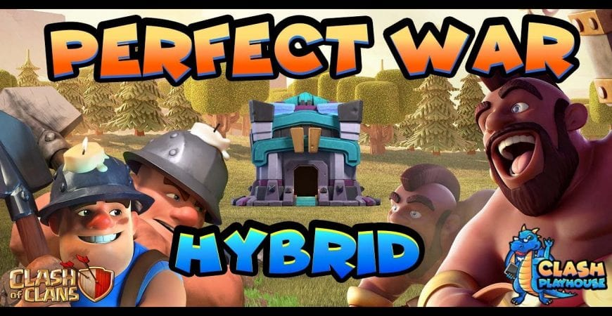 TH13 Hybrid perfect war getting those triples | Clash of Clans by Clash Playhouse