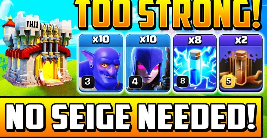 BEST NEW TOWN HALL 11 ATTACK STRATEGY IN 2020 IS ZAP BOWLER WITCH! STRONGEST TH11 Attacks | TH 11 by Clash With Cory