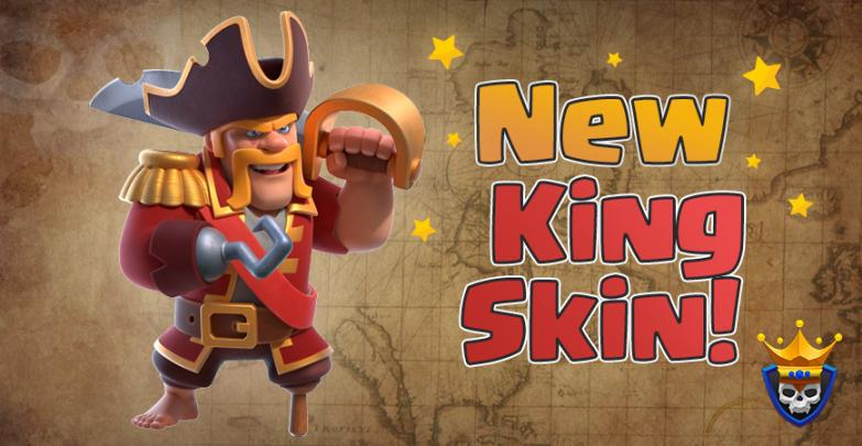 Ahoy, Mateys! New Pirate Barbarian King Skin – November Hero Skin Sneak Peek!