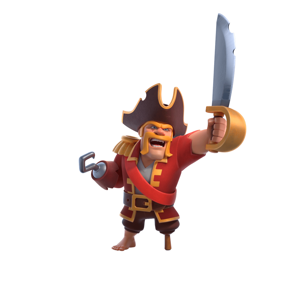 Pirate Barbarian King Hero Skin