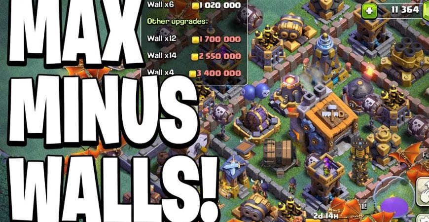MAXING MY BUILDER BASE! (Except Walls lol) – Clash of Clans by Clash Bashing!!