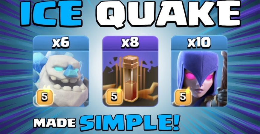 6 x ICE GOLEMS + 10 x WITCHES + 8 x EQ = SPAM QUAKE! TH13 Attack Strategy | Clash of Clans by Sir Moose Gaming