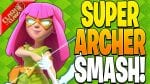 SUPER ARCHER SMASH IS SO FUN! – Clash of Clans by Clash Bashing!!