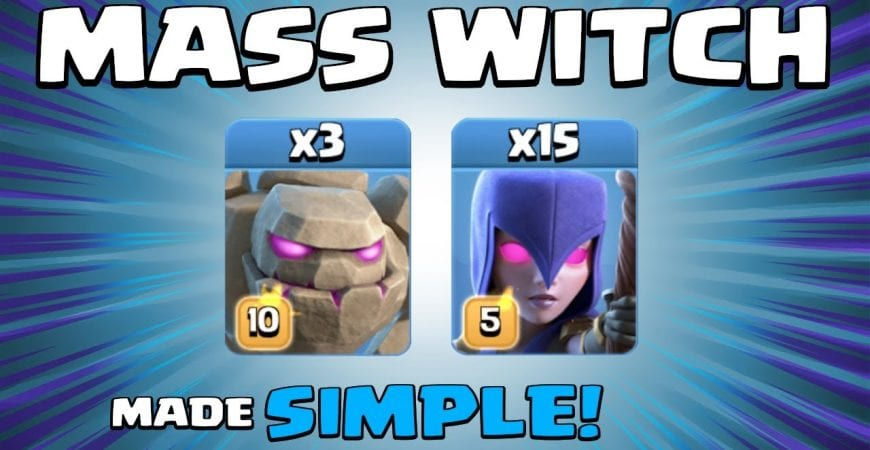 3 x GOLEMS + 15 x WITCHES = BASE CRUSHED! TH13 Attack Strategy | Witch Spam | Clash of Clans by Sir Moose Gaming