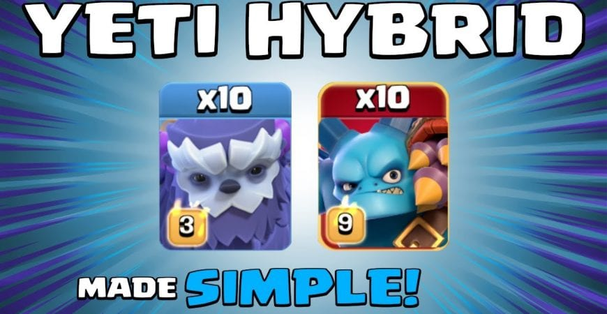 10 x YETIS + 10 x SUPER MINIONS = NEW META! BEST TH13 Attack Strategy | Yeti Hybrid | Clash of Clans by Sir Moose Gaming