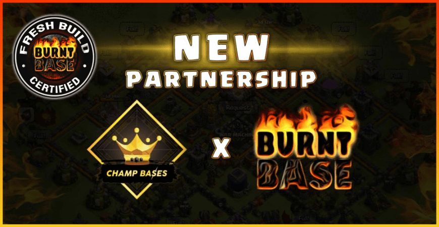 Exclusive New Partnership: Champ Bases & Burnt Base!