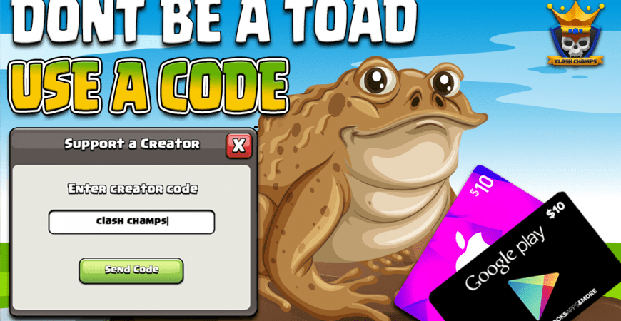 DON'T BE A TOAD! USE A CODE!