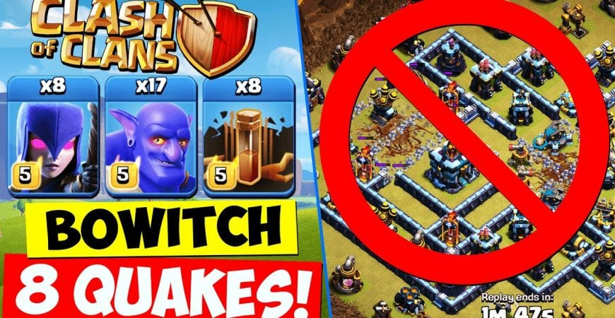 BOWITCH with 8 QUAKES ! TH13 Bowler Witch Attack Strategy | Town Hall 13 Clash of Clans COC by Clash With Cory