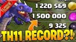 I HAVE NEVER SEEN THIS MUCH LOOT BEFORE AT TH11! – Clash of Clans by Clash Bashing!!