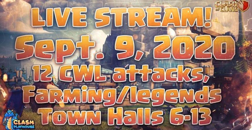 12 CWL attacks farming/legend TH's 6-13| Clash of Clans by Clash Playhouse