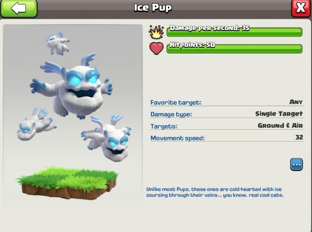 New Super Troop: Ice Pup Stats