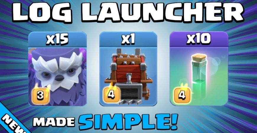 LOG LAUNCHER + INVISIBILITY SPELL + YETIS = UNSTOPPABLE! NEW TH13 Attack Strategy | Clash of Clans by Sir Moose Gaming