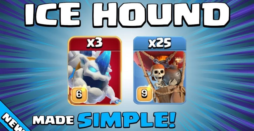 NEW SUPER TROOP = ICE HOUND! TH13 Attack Strategy | Clash of Clans by Sir Moose Gaming