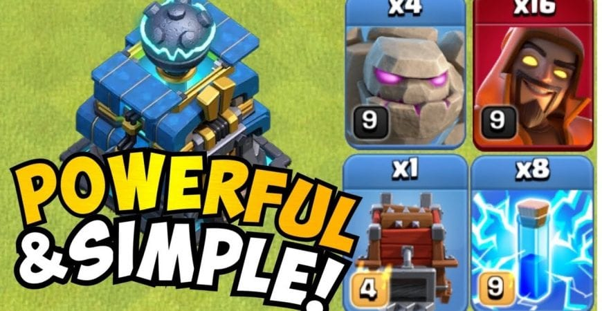 INSANELY OVERPOWERED and EXTREMELY SIMPLE!! TH12 Golem Avalanche with SUPER WIZARDS! Clash of Clans by Clash with Eric – OneHive