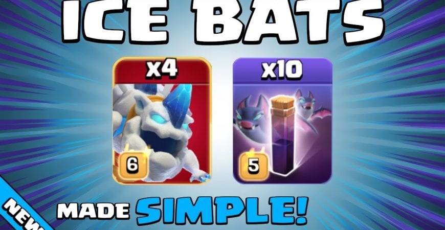 4 x ICE HOUNDS + 10 x BAT SPELLS = OUCH! TH13 Attack Strategy | Clash of Clans by Sir Moose Gaming