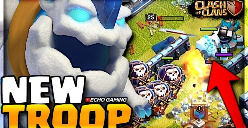 NEW Ice Hound Troop replaces the Lava hound in Clash of Clans by ECHO Gaming