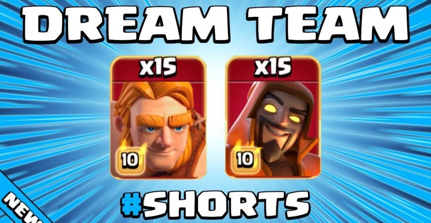 LEARN THIS SPAM ATTACK IN UNDER 1 MINUTE!!! TH13 Attack Strategy   Clash of Clans #Shorts by Sir Moose Gaming