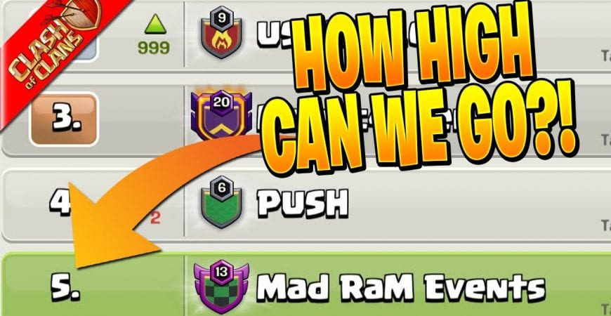 PUSHING to the TOP 5 CLANS in the USA! – Clash of Clans by Clash Bashing!!