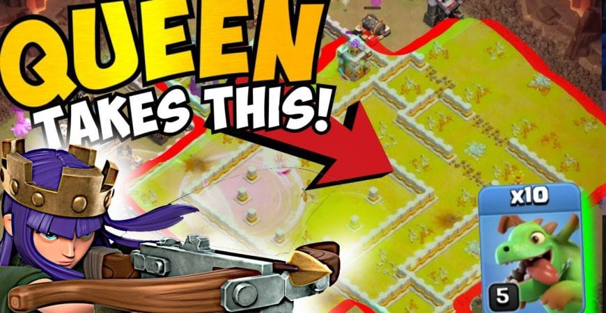 QUEEN TAKES 75% OF BASE?! TH11 QUEEN CHARGE MASS BABY DRAGONS | No Siege Machine | Clash of Clans by Clash with Eric – OneHive
