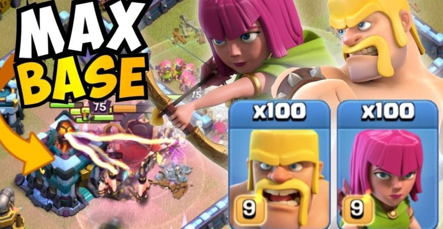 WHAT THE %$#&! MAX TH13 TRIPLED WITH BARCH IN WAR?! MOST CREATIVE ATTACKS in Clash of Clans by Clash with Eric – OneHive
