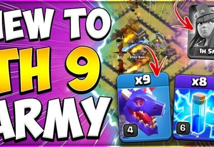 No Heroes No Problem! New to TH9 Dragon Attack Strategy for War in Clash of Clans by Kenny Jo