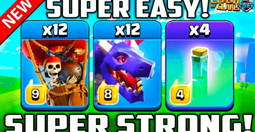 POWERFUL NEW INVISIBLE DRAGON DESTROYS TH 13 ! Best New Clash of Clans War Attack Strategy by Clash With Cory